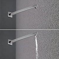 Artbath Braccio doccia bagno a parete per soffione doccia 40cm quadrato in ottone cromato