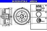 ATE 24.0220-0738.2 Bremstrommel