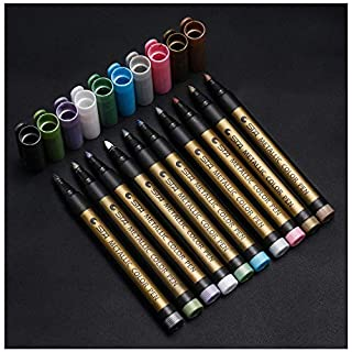 Metallic Marker Pens Aquarell Stift Metallischen Marker Stifte 10 Farbe AOJIA für Fotoalbum, Sammelalbum, Kartenherstellung, Kunstmalerei, Färbung, Zeichnung, Design, Kalligraphie