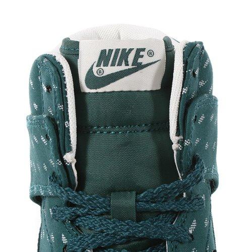 Nike Dunk sky high print, Damen Sneaker Grün - Vert et blanc