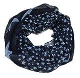ACC leichter Sommer Sterne Loop Schal - tolle Farben (blau türkis)