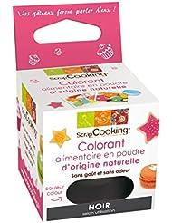 ScrapCooking - Colorant alimentaire en poudre d'origine naturelle - Noir