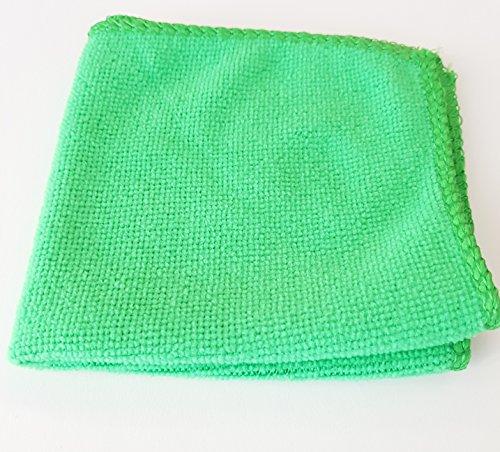 Unbekannt 10x Microfasertücher Mikrofasertuch Poliertücher Auto Politur Reinigung Tuch Grün