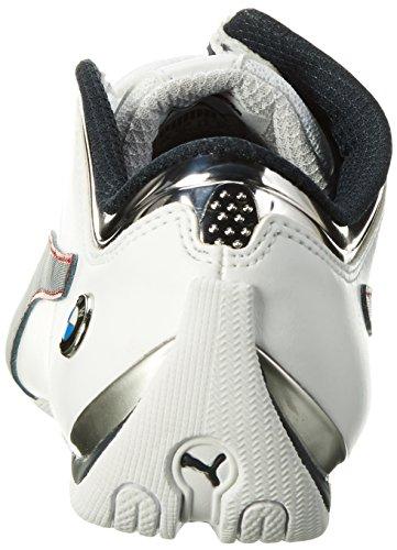 Puma Bmw Ms Future Cat Mu, Sneakers Basses Mixte Adulte Blanc (Puma White-team Blue-high Risk Red 02)
