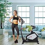 AsVIVA Heimtrainer und Ergometer H22 mit App Bluetooth Konsole | 15 kg Schwungmasse, Riemenantrieb - inkl. Fitnesscomputer – Handpulssensoren und Pulsempfänger (inklusive Brustgurt) | schwarz - 2