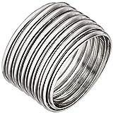 Jobo Damen Ring breit 925 Sterling Silber Silberring flexibel Spiralring Spirale Größe 66