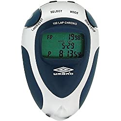 Umbro Silver & Navy Blue Unisex Professional Stopwatch With 38 Inch Cord U124