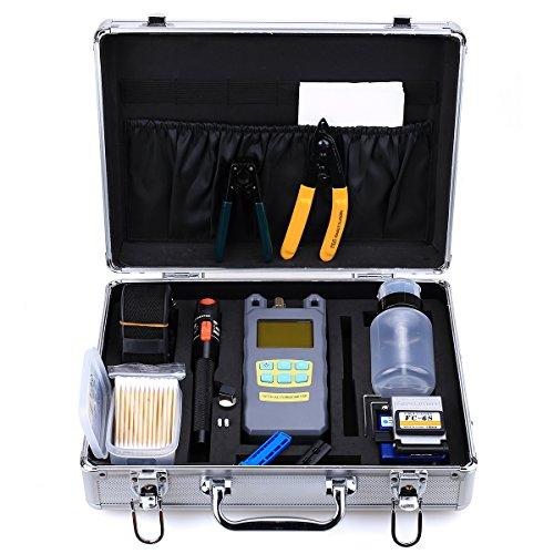 Cruiser 22in 1FTTH Faser Optische Tool Kit fc-6s Faser Hackmesser Optische Power Meter 10mW Visual Fault Locator Faser Strip-Werkzeug -