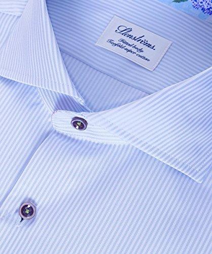 Stenstroms Hommes Chemise rayée ajustée Bleu Bleu