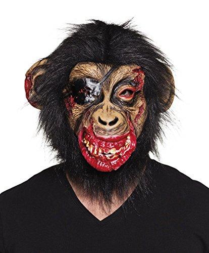 Fancy Ole - Halloween Kostüm Latex Kopf Maske Blutiger Horror Affe Erwachsenen Maske, Mehrfarbig