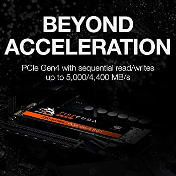 Seagate FireCuda 520 1 TB Performance Internal Solid State Drive SSD PCIe Gen4 x4 NVMe 1.3 for Gaming PC Gaming Laptop Desktop (ZP1000GM3A002)