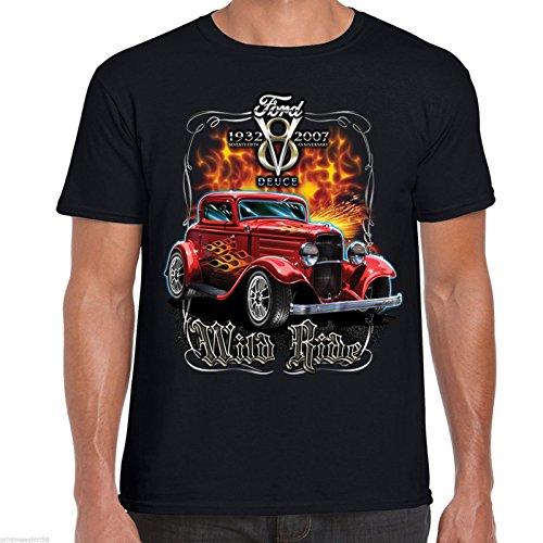hot rod 58 /ford -  T-shirt - Uomo Black Small