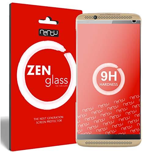 ZenGlass (2 Stück Flexible Glas-Folie für ZTE Axon 7 Panzerfolie I Bildschirm-Schutzfolie 9H I (Kleiner Als Das Gewölbte Bildschirm)
