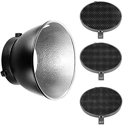 Neewer® 7 pouces / 18cm Standard Diffuseur Réflecteur 1/30/50 Degré