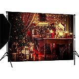 CapiSco Fotohintergrund Fotografie Stoffhintergrund Stoff Hintergrund Fotostudio Weihnachten 2,1 * 1,5m XM03A