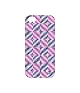 Vogueshell Check Pattern Printed Symmetry PRO Series Hard Back Case for Apple iPhone SE