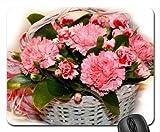Nelke Korb Mauspad, Mousepad (Blumen Mauspad)
