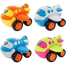 SGILE Aeronaves 12 en 1 Set Aviones Coche de juguete para Niños Pequeños