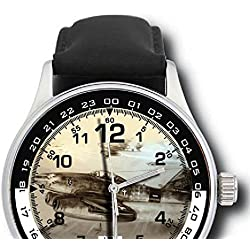 Messerschmitt ME-262 Commemorative Luftwaffe WW-II 44 mm Jet NightFighter-Bomber Wrist Watch