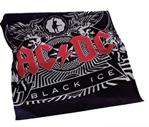 AC DC - Black Ice Retro Rock Band Fleecedecke 100 % Polyester 150 x 200 cm