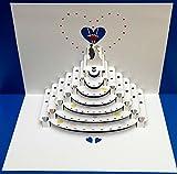 Pop Up 3D Karte Hochzeit Grusskarte Geburtstag Gutschein Treppen zum Glück 16x11cm