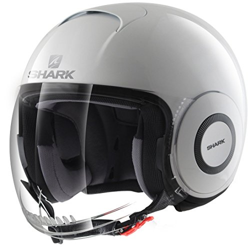 Shark casco jet Micro, color blanco, talla M