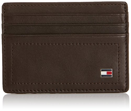 Tommy Hilfiger Herren Harry Cc Holder Geldbörse, braun -