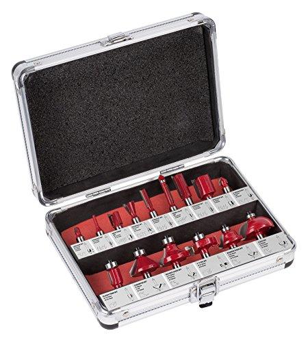 KREATOR 15 Fräsköpfe Schaft Ø 8mm für Oberfräse im Koffer -