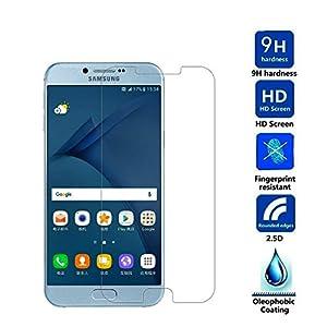 Galaxy A8(2016) Displayschutzfolie-lokeke Tempered Glas Displayschutzfolie Film für Samsung Galaxy A8(2016) mit 9H Härte/Scratch/Fingerabdruck resistent
