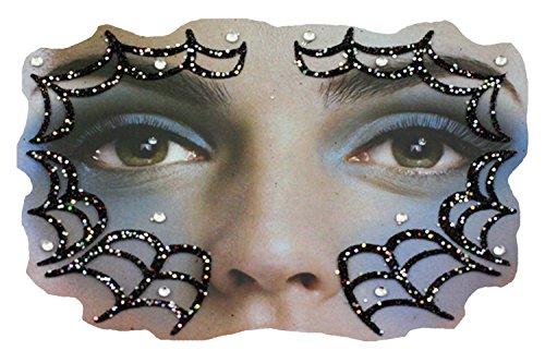 Gesichts-Tattoo Face Art Halloween Karneval Spinnennetz