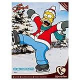 Latte Cioccolato Natale Calendario dell'Avvento 24 Festive Forme 40g - I Simpson