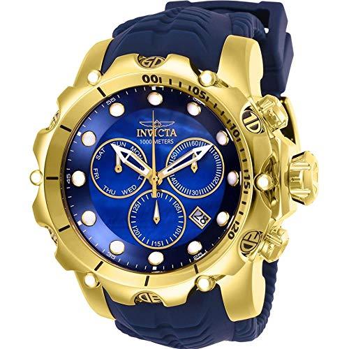 Invicta Venom Herren-Armbanduhr Armband Silikon Blau Schweizer Quarz 26245 (Männer Venom Invicta Für Uhren)