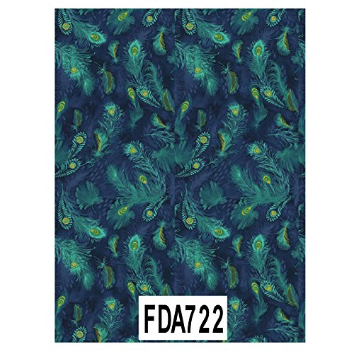 decopatch-decoupage-printed-paper-fda722-green-blue-feathers