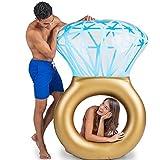 Baby Pig Anillo de natación gigante, piscina inflable balsa flotante, tumbonas de juguete de fiesta de playa de verano al aire libre, silla recreativa de ocio de agua para adultos niños (diamantes)