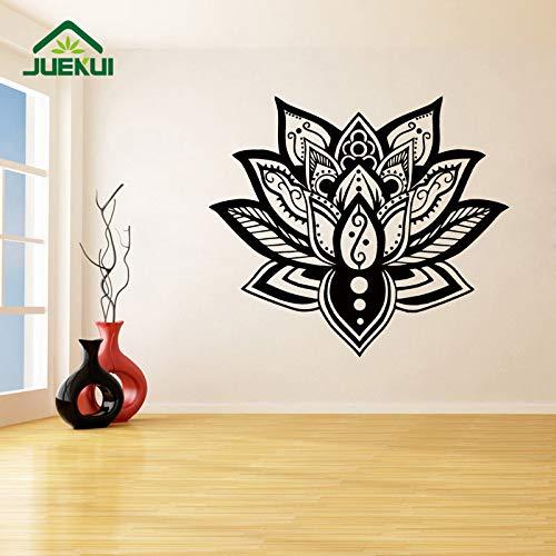 ljradj Lotus Mandala Home Art Decor Living Room Wall Stickers per Camera da Letto Vinyl Decals Murales Decorazione Poster Impermeabile Rosa 66X57cm