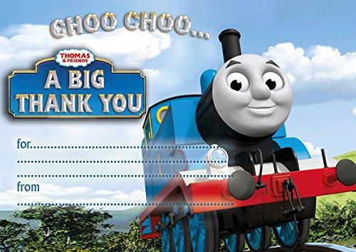 10x Thomas der Zug Thank You Karten mit weißen Umschlägen With White Envelopes (Thomas Der Zug-party)