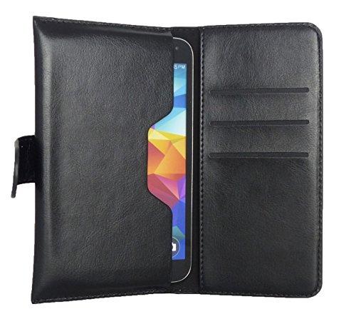 sumo:mobile universal Bookstyle Tasche mit Einschub schwarz für Smartphones z.B. Samsung Galaxy S5