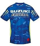 SUZUKI MotoGP Team T-Shirt, Edelprint kurzarm ! Camouflage Ecstar Racing ! blau weiß neon