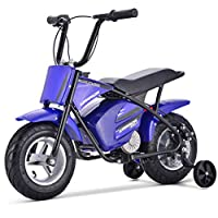 Renegade MK250 Kids 24V Electric Dirt Bike Childrens Battery Operated Rechargeable Motorbike - Blue