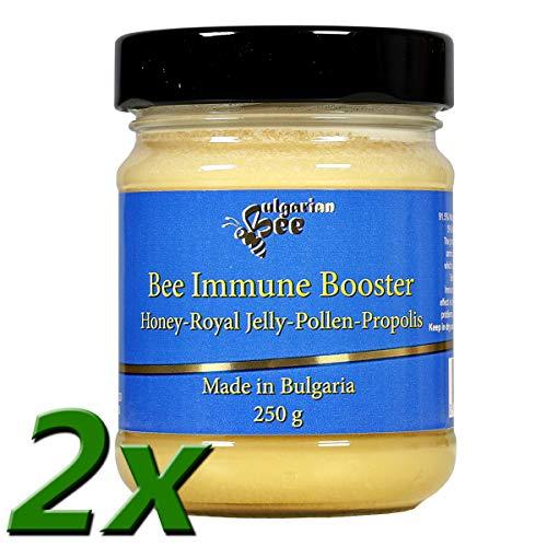 500 g Roher wald Honig enthält Blütenpollen, Bienenwachs, Propolis, und Gelee Royal, ungefiltert, nicht geschleudert oder erhitzt, - Pollen, Gelee Royal