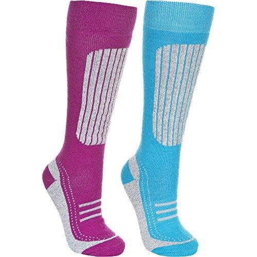 Ski-3 Pair Pack (Trespass Womens/Ladies Janus II Technical Warm Ski Socks 2 Pair Pack)