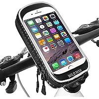 Soporte Movil Bicicleta Impermeable Universal 360 Grados Rotación Soporte Bolsa Movil Bicicleta con Pantalla Táctil Sensible Bolsa Telefono Bicicleta para iPhone X / 8 Plus / Samsung S9 (6,3 Pulgadas) (Negro)