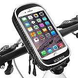 Supporto Bici Smartphone Impermeabile 360°Rotazione Supporto Manubrio Moto Smartphone con Sensibile Touchscreen Supporto Moto MTB per iPhone XS Max/XR/Samsung Note 9 (Cellulari sotto 6,6 Pollice)