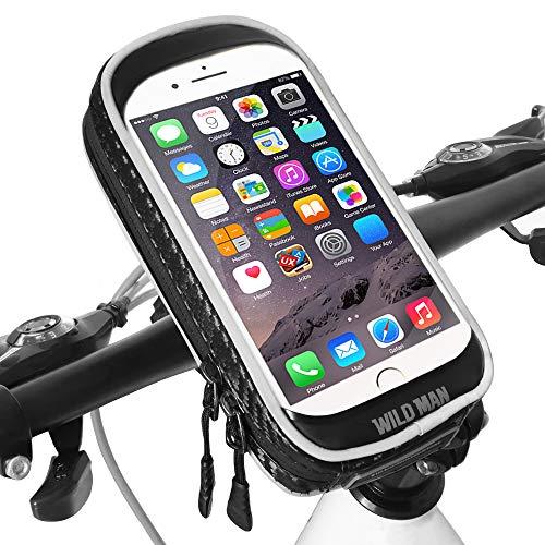 Fahrrad Handyhalterung Wasserdicht Universal 360°Drehbar Motorrad-Halterungen mit Empfindlicher Touchscreen Handyhalter Fahrrad für iPhone XS Max/XR/Samsung Note 9/A9 Star (Handy Bis zu 6,6 Zoll)
