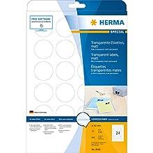 HERMA 4686 Labels transparent matt A4 Ø 40 mm round film 600 pcs.