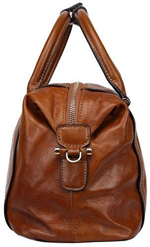 Borgasets Femme Grande contenance Cuir véritable sacoche sac à bandoulière... - Marron - marron S4gMf,