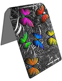 Stray Decor (Butterfly Silver) Étui à Cartes / Porte-Cartes pour Titres de Transport, Passe d'autobus, Cartes de Crédit, Navigo Pass, Passe Navigo et Moneo