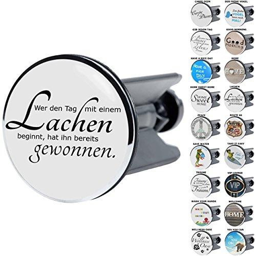 Sanilo Waschbeckenstöpsel mit Sprüchen   große Auswahl   passend für alle handelsüblichen Waschbecken (Lachen)