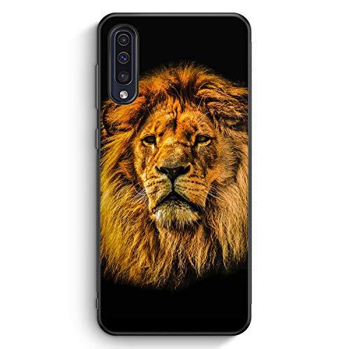 Löwe Lion Strahlend - Silikon Hülle für Samsung Galaxy A50 - Motiv Design Tiere Schön Jungs Männer - Cover Handyhülle Schutzhülle Case Schale -