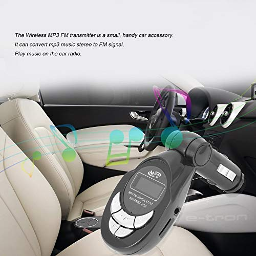 Wenwenzui-ES 4 in1 Car MP3 Player Wireless FM Transmitter Modulator USB CD MMC Remote